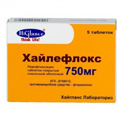 Хайлефлокс, табл. п/о пленочной 750 мг №5