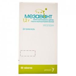 Мезавант, табл. пролонг. п/о кишечнораств. 1.2 г №60